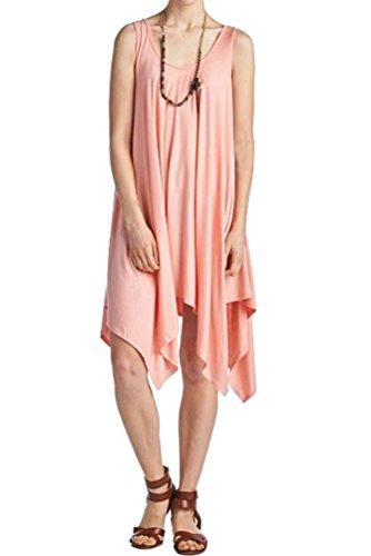 Iconic Luxe Women's Handkerchief Tank Dress Small Blush