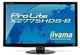 iiyama 27インチワイド液晶ディスプレイ VAパネル LEDバックライト USBハブ搭載 HDMIケーブル同梱モデル マーベルブラック PLX2775HDS-B1
