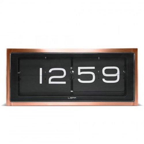 LEFF amsterdam - Brick Tisch/Wanduhr - Kupfer/schwarz - Erwin Termaat - Design - Uhr