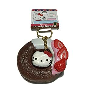 Squishy Chocolate Kitty : Amazon.com: Sanrio Hello Kitty Lovely Sweets Chocolate Donut Squishy: Toys & Games