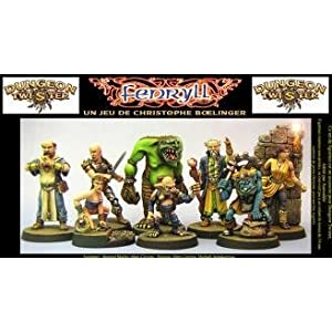 Dungeon Twister Miniatures: Green Base Set!