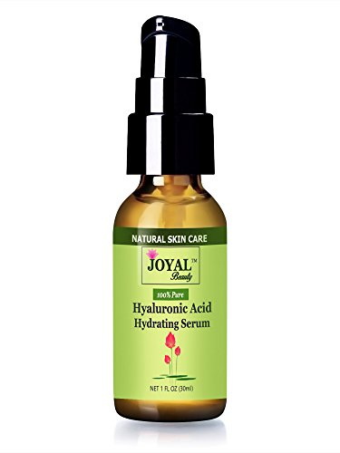 Hyaluronic Acid Serum 100 Pure For Your Skin-No Alcohol! No Oils! No Chemicals! Parabens-Free!100% Natural And 100% Vegan! Premium Quality Hyaluronic Acid Hydrating Serum By Joyal Beauty! Simply The Best Original Hyaluronic Acid For Younger, Firmer And Pl