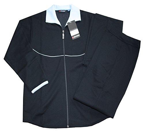 schneider-combinaison-tenue-survetement-interieur-loisirs-pour-femme-noir-bleu-clair-taille-40