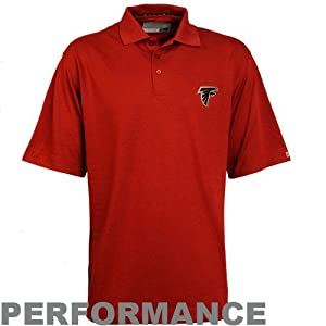 NFL Cutter & Buck Atlanta Falcons Red Champions DryTec Performance Polo by Cutter & Buck