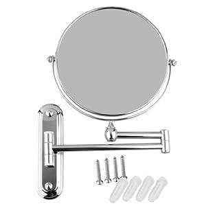 Wmicro double face miroir cosm tique diam tre 20 cm ronde for Miroir pivotant
