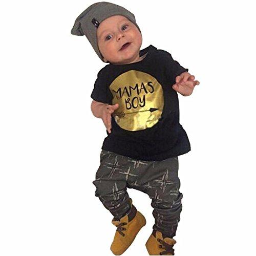 Culater® neonato bambini bambino bambino vestiti maglietta tops Set + pantaloni (90)