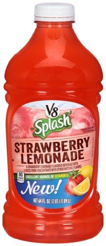 V8 Splash Juice, Strawberry Lemonade, 64 Ounce (Pack Of 8)