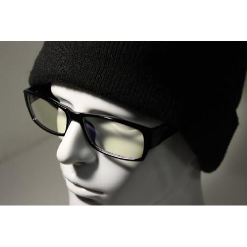 PENGIN(ペンギン) 私はこれで十分 スクリーンフィルター パソコン用 眼鏡 PCメガネ ブルーライト 青色光 カット メンズ レディース 伊達メガネ PENGINロゴ入りグロス&ケース 3点 セット (ブラック)