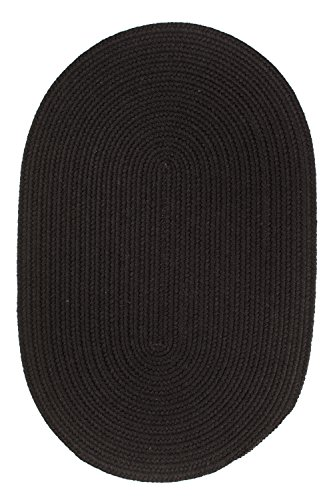 Rhody Rug Solid Wool Rug, 2 by 4-Inch, Black