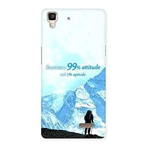 Special Attitude Success Back Case Cover for Oppo R7