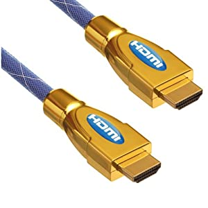 hdmicable4u Ultimate Blue Gold 5m 1.4A hdmi cable