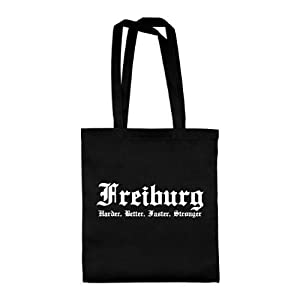 dress-puntos Baumwolltasche Freiburg - Harder, Better, Faster, Stronger drpt-bwt00062 42 x 38 cm