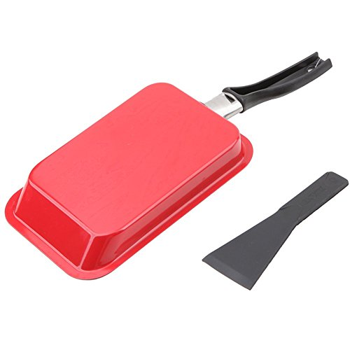 MyLifeUNIT Japanese Omelette Pan with Spatula, Nonstick Omelet Pan Tamagoyaki Egg Pan (Red)