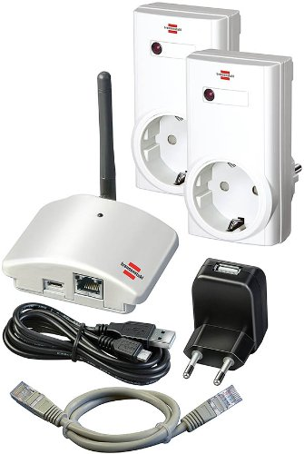 Brennenstuhl Brematic Home Automation Gateway GWY 433 Hausautomation Starter Kit (433MHz Gateway, 1,8m USB-Kabel)