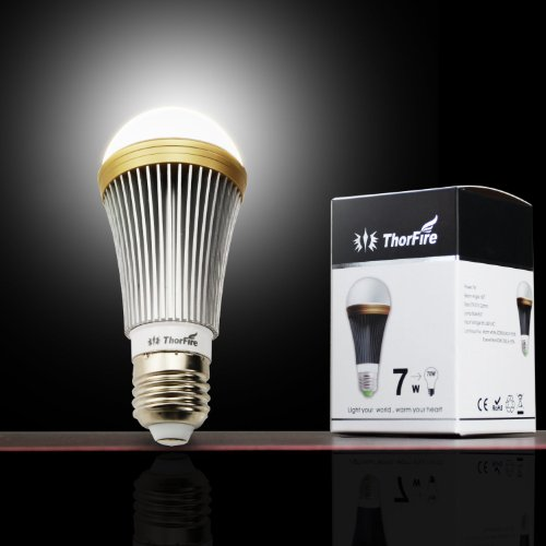 ThorFire Prichard chip A19 E27 LED Bulb 7W 700LM daylight White Light 6000k Aluminum shell 70 Watt Incandescent Lamp