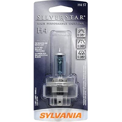 Sylania Silverstar H4 (H6024ST Sylvania Silver Star High Performance Halogen Bulbs. High/Low Beam. Maximum 65W/55W with 7 inch round headlight)