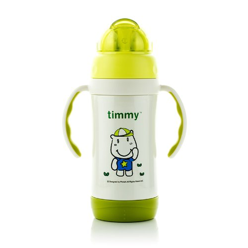 Funtainer Timmy Stainless Steel Straw Kid's Bottle ,Bpa-free,tmy-3249 (green)