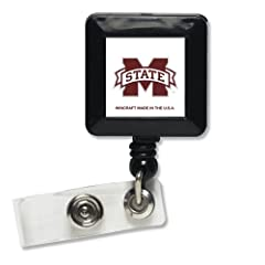Buy Mississippi State Bulldogs Official NCAA 1x1 Retractable Badge Holder Keychain by WinCraft