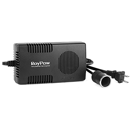 RoyPow 120W (Max 150W) Power Supply AC to DC Adapter 110V/120V to 12V Car Cigarette Lighter Socket 12V/10A DC Power Converter Transformer (5 Amp Ac To Dc Converter compare prices)