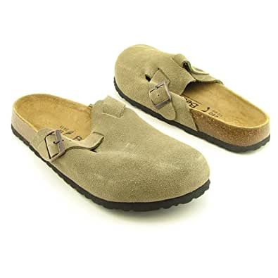 Betula Licensed by Birkenstock Taupe Suede Clog Size: 38