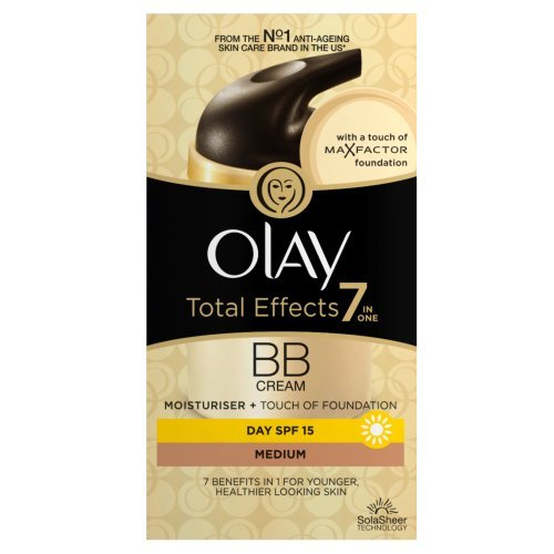 Olay, BB cream idratante con fondotinta MaxFactor, SPF15, Medium, 50 ml