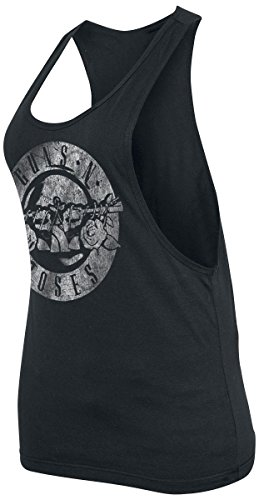 Guns N' Roses Distressed Bullet Top donna nero S