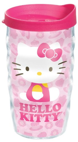 Tervis® Hello Kitty® Cakes Wrap Wavy 10-Ounce Tumbler With Fuchsia Lid front-915848