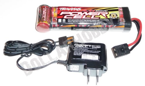 Traxxas 1/10 Ford Raptor/Slash 2Wd * 3000 Mah Nimh 8.4V Battery & Charger * 2923