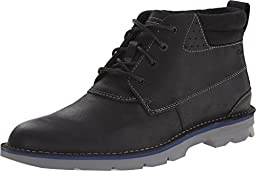 Clarks Men\'s Black Leather Varick Hill 11.5 D(M) US