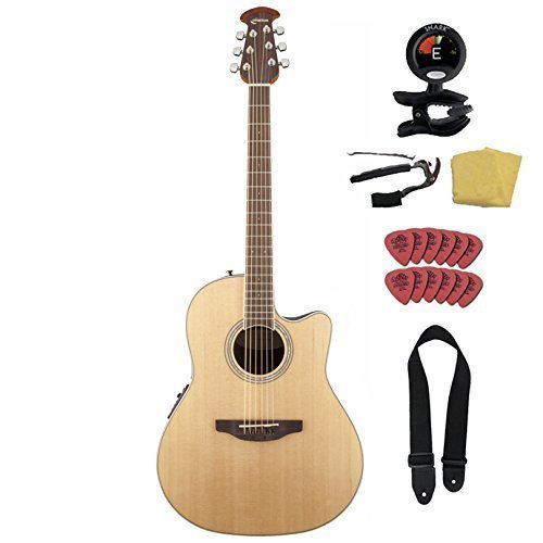 Ovation Celebrity Standard CS24-4 Acoustic-Electric with Guitar Vault Accessory Pack, Natural