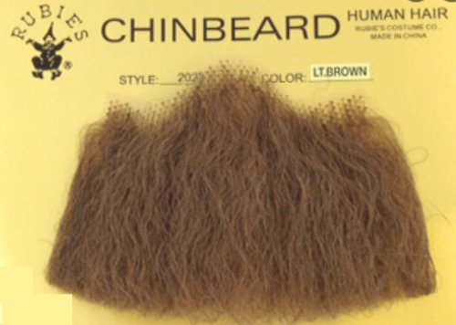 2022 (Lt Brown) Human Hair Chin Beard