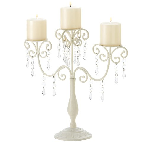 Gifts & Decor Ivory Candelabra Wedding Gift Centerpiece