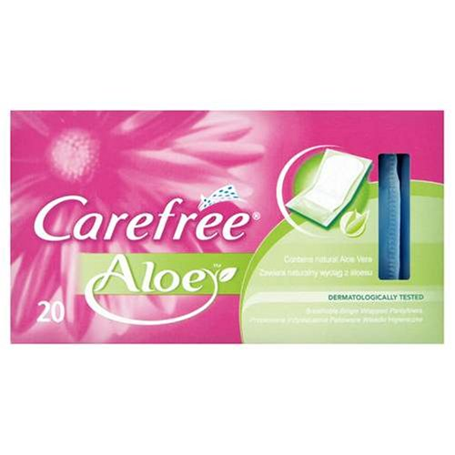 Carefree Panty Liners Breathable Aloe 20