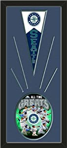 Seattle Mariners Wool Felt Mini Pennant & Seattle Mariners All Time Greats... by Art and More, Davenport, IA