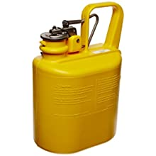 "Eagle 1509 Laboratory Safety Can, Polyethylene, 6"" Width x 13"" Height x 8-1/2"" Depth, 1 Gallon Capacity, Yellow"