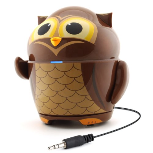 Gogroove Groove Pal Owl Kid-Friendly Animal Speaker W/ Rechargeable Battery & Portable Design For Smartphones , Tablets , Mp3 Players & More front-834613