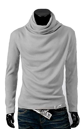 Tm Mens Thermal Cotton Turtle Polo Neck Skivvy Turtleneck Sweater Stretch Shirts Top