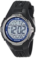 Timex Men's T5K6809J 1440 Sports Digital Full-Size Black and Blue Resin Watch from Timex