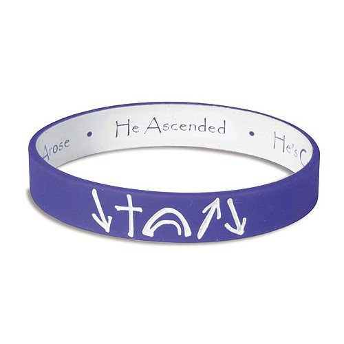 Purple and White reversible Witness Band Silicone Bracelet