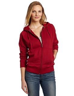 Dickies Women's Zip Hoodie, Red, X-Large