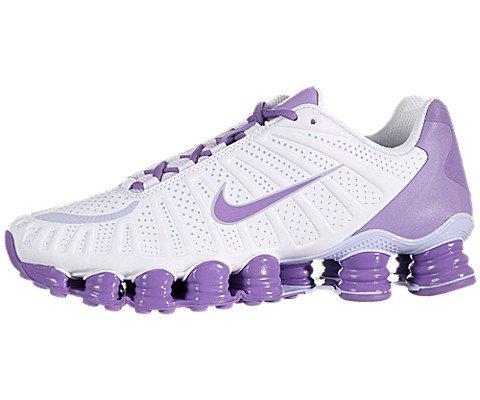 Womens Nike Shox TLX Running Shoes White / Velvet Purple 488344-150 Review