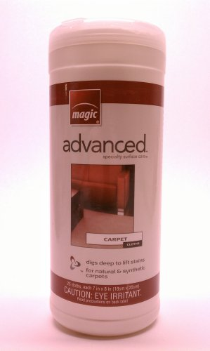 Magic Advanced Specialty Surface Care Carpet Cloths 25 Count To Lift Stains From Natural And Synthetic Carpet