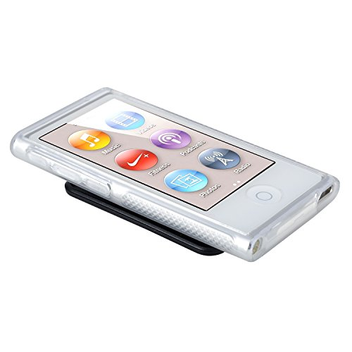 Insten TPU Rubber Skin Case with Belt Clip for Apple iPod nano 7G, Clear