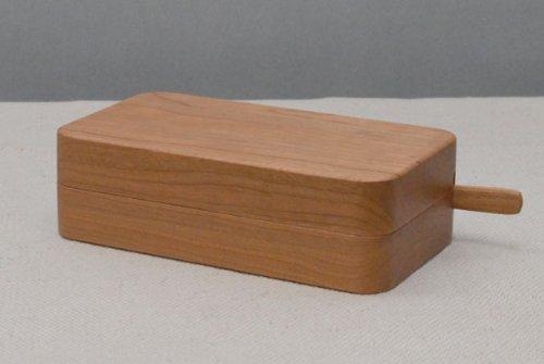 【高橋工芸】 Kakudo 45°木のバターケース チェリー