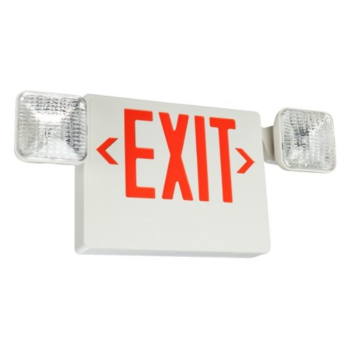 LED Exit Sign & Emergency Light - Red letters