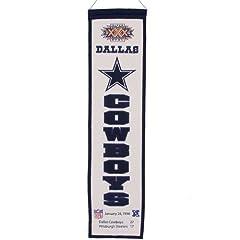 Buy Winning Streak Dallas Cowboys Super Bowl XXX Champions Marquee Banner - Dallas Cowboys Black One... by Winning Streak