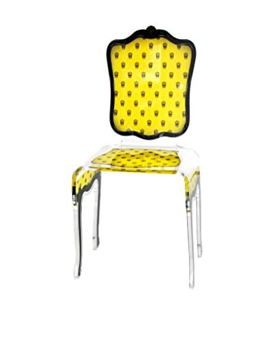 ACRILA Charleston Skull Chair, Yellow