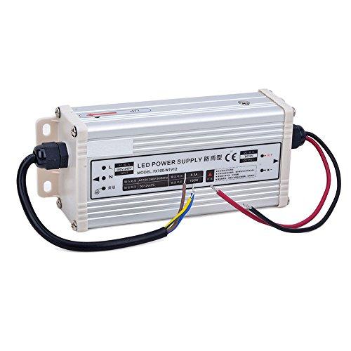 niceEshop(TM) 12V 8.3A 100W LED Wasserdicht Schaltnetzteil Trafo (Silber)