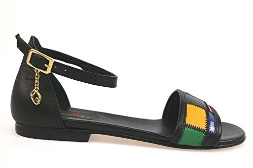 scarpe donna BRACCIALINI 37 sandali nero / multicolor pelle ap641