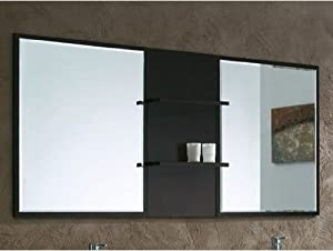 bathroom mirror with shelves finish espresso countertop bathroom